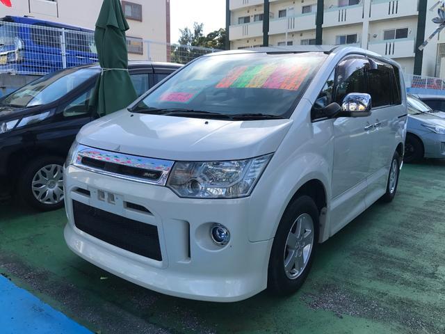 沖縄県の中古車ならデリカD:5 ローデスト G パワーパッケージ ナビ