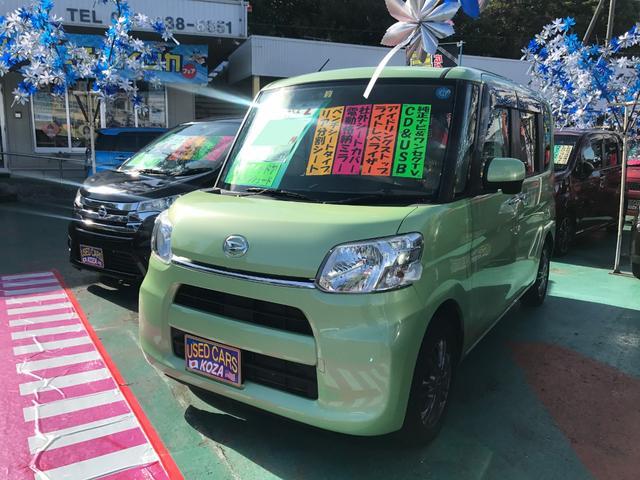 沖縄の中古車 ダイハツ タント 車両価格 59万円 リ済別 2014(平成26)年 8.3万km グリーン