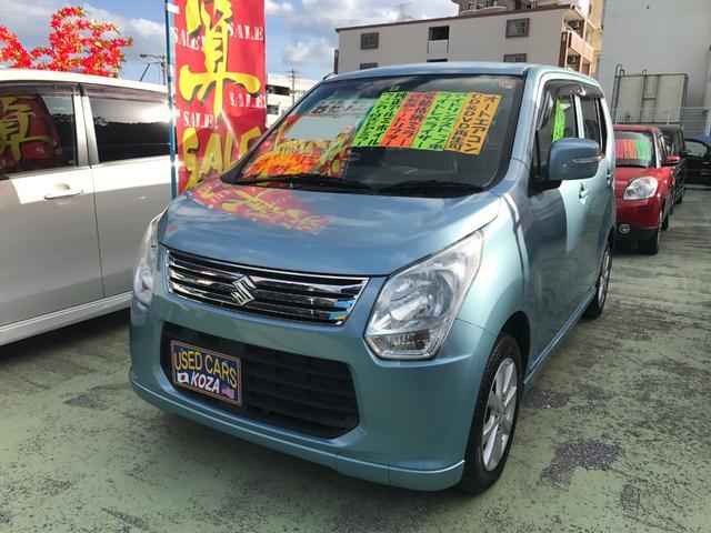 沖縄の中古車 スズキ ワゴンR 車両価格 54万円 リ済別 2013(平成25)年 8.1万km ライトブルー