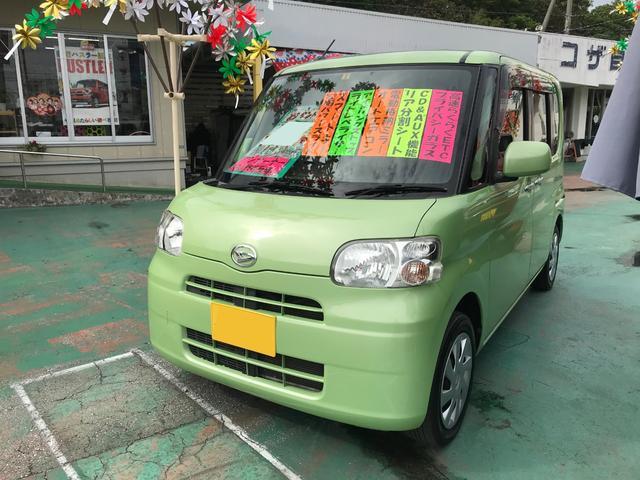 沖縄の中古車 ダイハツ タント 車両価格 66万円 リ済別 2013(平成25)年 8.7万km グリーン