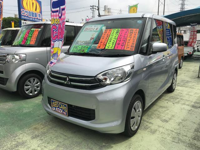 沖縄の中古車 三菱 eKスペース 車両価格 64万円 リ済別 2013(平成25)年 6.0万km シルバー