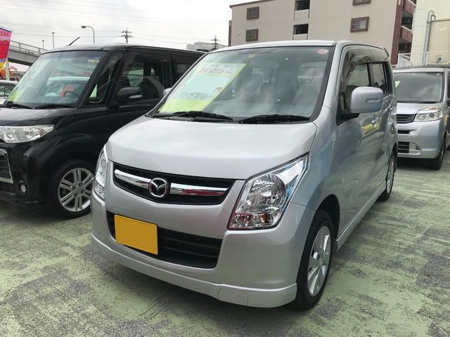 沖縄の中古車 マツダ AZワゴン 車両価格 56万円 リ済別 2012(平成24)年 6.6万km シルバー