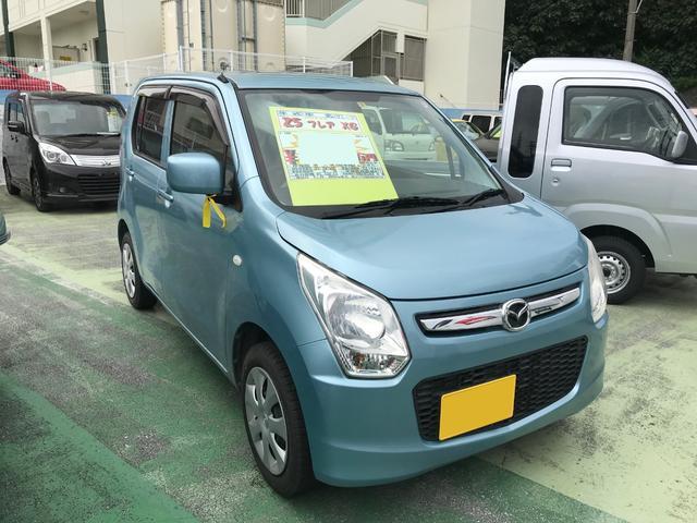 沖縄の中古車 マツダ フレア 車両価格 49万円 リ済別 2013(平成25)年 8.5万km ライトブルー