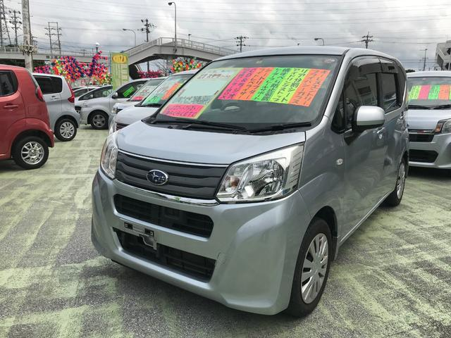 沖縄の中古車 スバル ステラ 車両価格 54万円 リ済別 2015(平成27)年 10.1万km シルバー