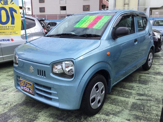 沖縄の中古車 スズキ アルト 車両価格 46万円 リ済別 2015(平成27)年 8.6万km ライトブルー