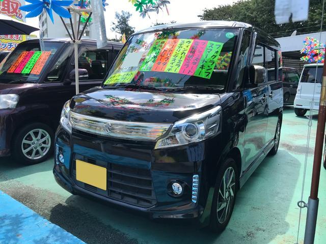 沖縄県の中古車ならスペーシアカスタム Jスタイル 両側パワースライドドア プッシュスタート