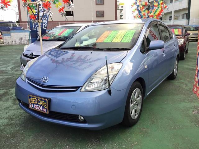 沖縄の中古車 トヨタ プリウス 車両価格 53万円 リ済別 2008(平成20)年 7.5万km ブルー