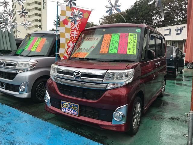 沖縄県沖縄市の中古車ならタント カスタムX アイドリングストップ 両側パワースライドドア