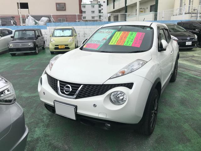 沖縄県の中古車ならジューク 15RX タイプV 純正ナビTV バックモニター