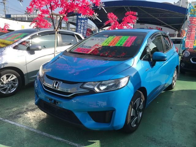 沖縄県沖縄市の中古車ならフィットハイブリッド Fパッケージ ナビTV バックモニター
