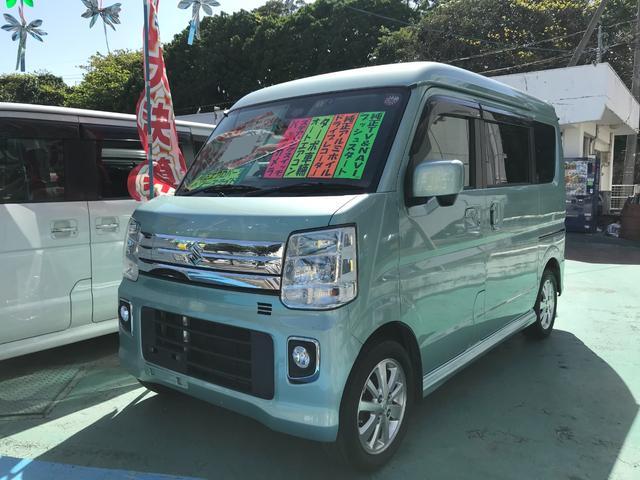 沖縄県の中古車ならエブリイワゴン PZターボ ドライブレコーダー 純正ナビTV