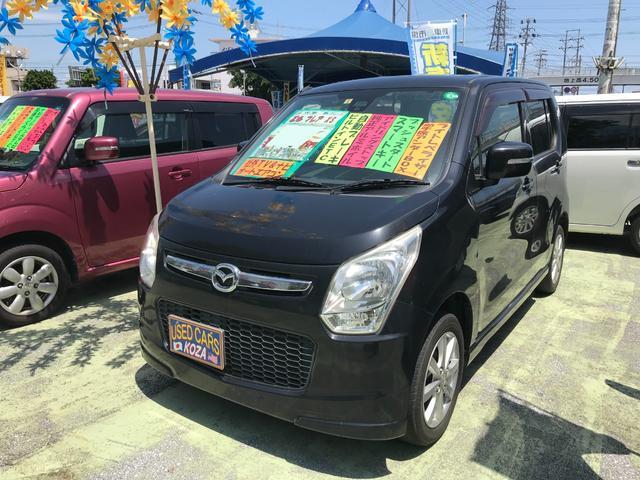 沖縄の中古車 マツダ フレア 車両価格 53万円 リ済別 2014(平成26)年 9.4万km ブラック