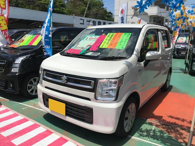 沖縄県沖縄市の中古車ならワゴンR ハイブリッドFX アイドリングストップ レーダーブレーキサポート
