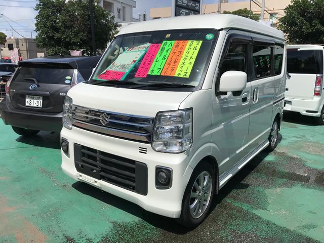 沖縄県沖縄市の中古車ならエブリイワゴン PZターボ ハイルーフ ナビTV
