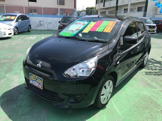 沖縄の中古車 三菱 ミラージュ 車両価格 43万円 リ済別 2012(平成24)年 6.3万km ブラックマイカ