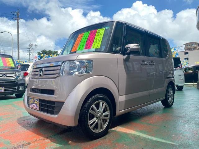 沖縄の中古車 ホンダ N-BOX 車両価格 73万円 リ済別 2014(平成26)年 9.0万km ピンク