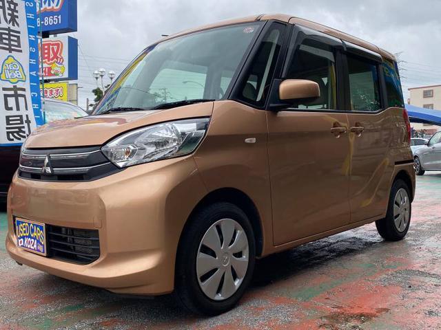 沖縄の中古車 三菱 eKスペース 車両価格 53万円 リ済別 2014(平成26)年 10.1万km オレンジ
