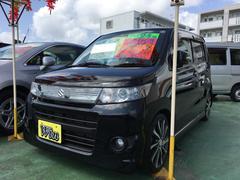 沖縄の中古車 スズキ ワゴンRスティングレー 車両価格 55万円 リ済込 平成24年 8.6万K ブルーイッシュブラックパール3