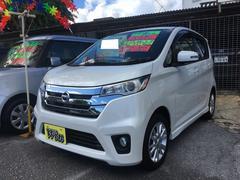 沖縄の中古車 日産 デイズ 車両価格 75万円 リ済込 平成25年 7.2万K ホワイトパール