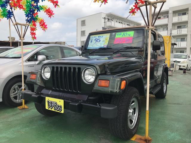 沖縄の中古車 クライスラー・ジープ クライスラージープ ラングラー 車両価格 95万円 リ済込 1998年 6.2万km グリーンII