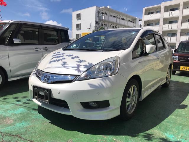 沖縄県の中古車ならフィットシャトルハイブリッド ハイブリッド ワイドナビ バックカメラ