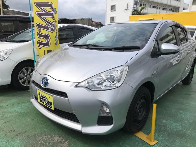 沖縄県沖縄市の中古車ならアクア L 新品タイヤ キーレス アイドリングストップ ナビ TV Bluetooth ドライブレコーダー