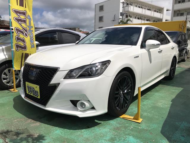 沖縄県沖縄市の中古車ならクラウンハイブリッド アスリートS ブラックスタイル