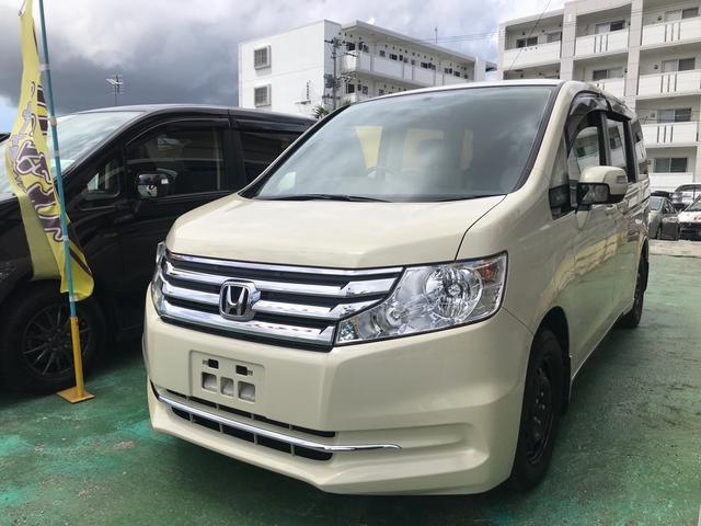 沖縄の中古車 ホンダ ステップワゴン 車両価格 79万円 リ済込 2013(平成25)年 8.1万km ヒダマリアイボリーパール
