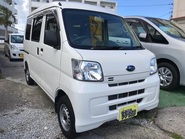 沖縄の中古車 スバル サンバーバン 車両価格 65万円 リ済込 2017(平成29)年 7.4万km ホワイト