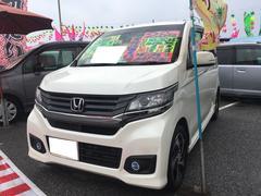 沖縄の中古車 ホンダ N−WGN 車両価格 88万円 リ済込 平成26年 10.5万K プレミアムホワイトパール