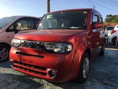沖縄の中古車 日産 キューブ 車両価格 68万円 リ済込 平成24年 6.9万K ルミナスレッドM