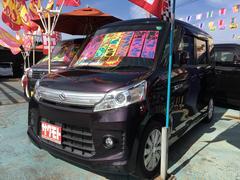 沖縄の中古車 スズキ スペーシアカスタム 車両価格 84万円 リ済込 平成25年 9.6万K ミステリアスバイオレットパール