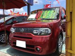 沖縄の中古車 日産 キューブ 車両価格 58万円 リ済込 平成24年 9.8万K ラディアントレッドPM