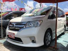 沖縄の中古車 日産 セレナ 車両価格 148万円 リ済込 平成25年 8.1万K ブリリアントホワイトパール