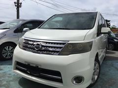 沖縄の中古車 日産 セレナ 車両価格 68万円 リ済込 平成21年 10.9万K ホワイトM