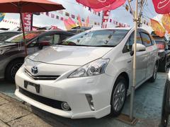 沖縄の中古車 トヨタ プリウスアルファ 車両価格 124万円 リ済込 平成24年 7.3万K ホワイトパールクリスタルシャイン