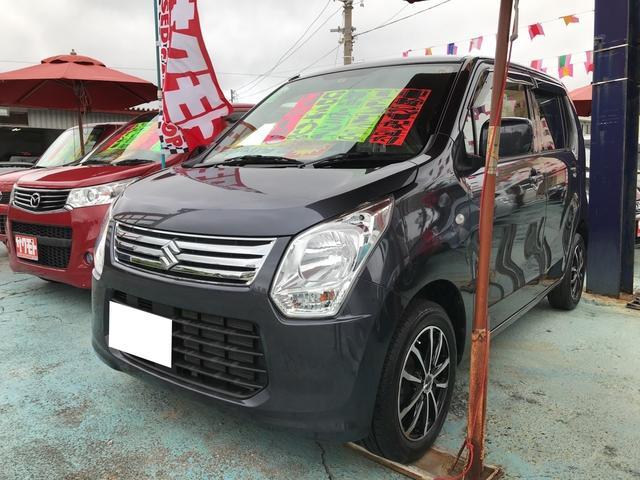 沖縄の中古車 スズキ ワゴンR 車両価格 68万円 リ済込 平成26年 6.3万km ルナグレーパールメタリック