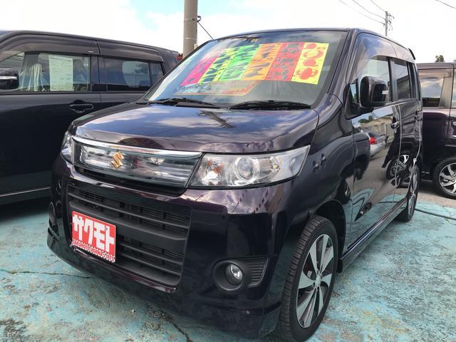 沖縄の中古車 スズキ ワゴンRスティングレー 車両価格 58万円 リ済込 平成24年 9.2万km ミステリアスバイオレットパール