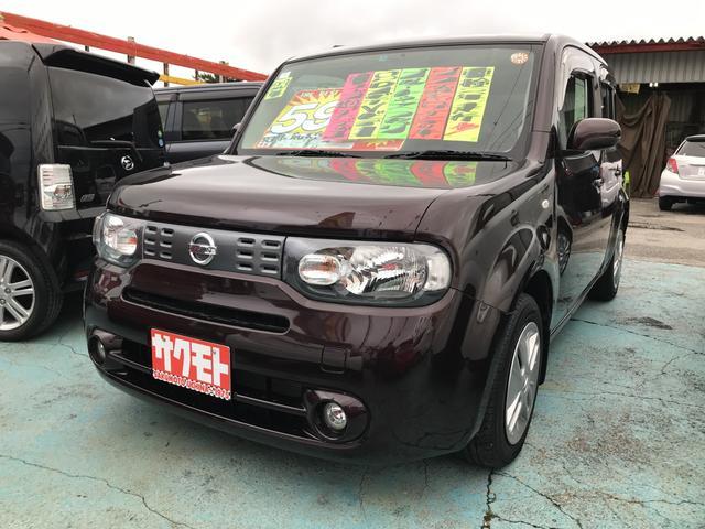 沖縄の中古車 日産 キューブ 車両価格 58万円 リ済込 平成23年 6.6万km ビターショコラP