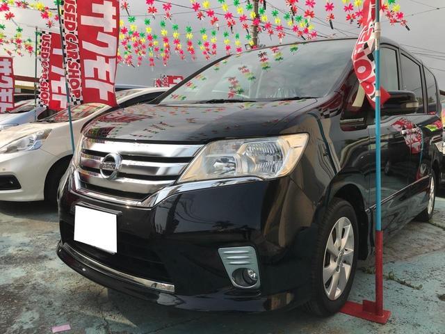 沖縄の中古車 日産 セレナ 車両価格 97万円 リ済込 平成23年 9.1万km ブラック