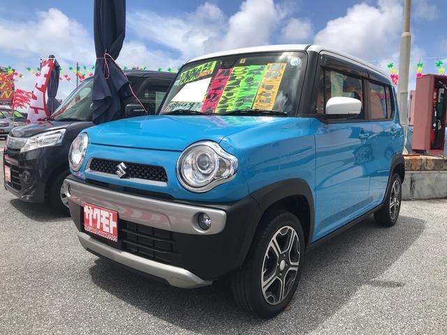 沖縄の中古車 スズキ ハスラー 車両価格 88万円 リ済込 2014(平成26)年 6.4万km ライトブルーII