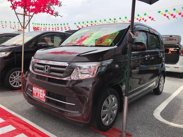 沖縄の中古車 ホンダ N-WGN 車両価格 78万円 リ済込 2016(平成28)年 6.2万km プレミアムディープモカパール