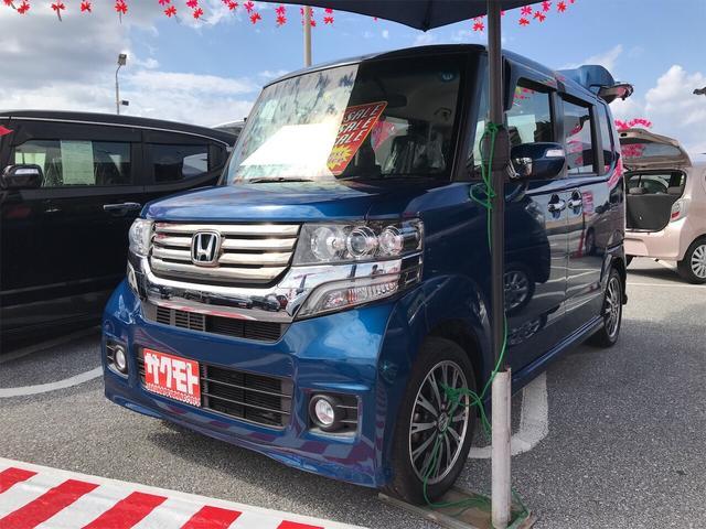 沖縄県の中古車ならN-BOXカスタム G ターボSSパッケージ TV ナビ 軽自動車
