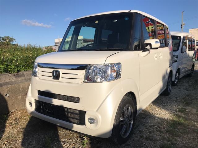 沖縄県の中古車ならN-BOX G ターボSSパッケージ ナビ 軽自動車 AC AW