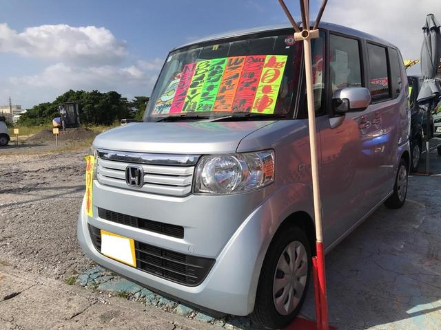 沖縄県の中古車ならN-BOX+ G スマートキー プッシュスタート アイドリングストップ 両側スライドドア ナビ TV