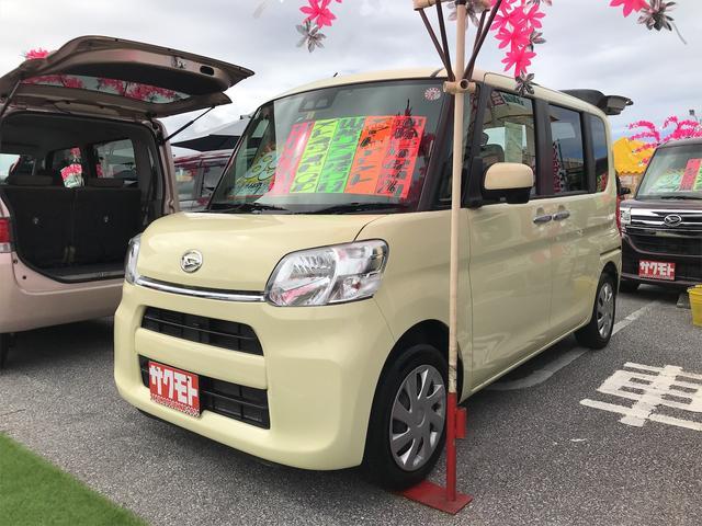 沖縄の中古車 ダイハツ タント 車両価格 88万円 リ済込 2017(平成29)年 7.7万km コットンアイボリー
