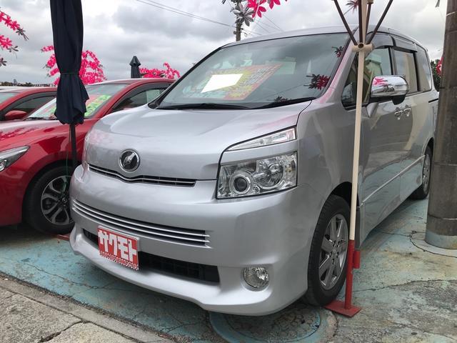 沖縄県の中古車ならヴォクシー ZS 煌II スマートキー プッシュスタート 両側パワースライド 3列シート 8名乗り ナビ ワンセグTV バックカメラ パドルシフト