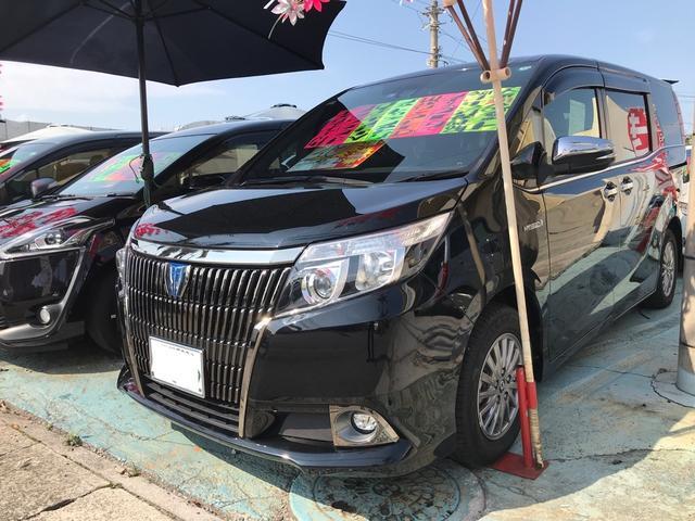 沖縄の中古車 トヨタ エスクァイア 車両価格 218万円 リ済込 2017(平成29)年 7.9万km ブラック