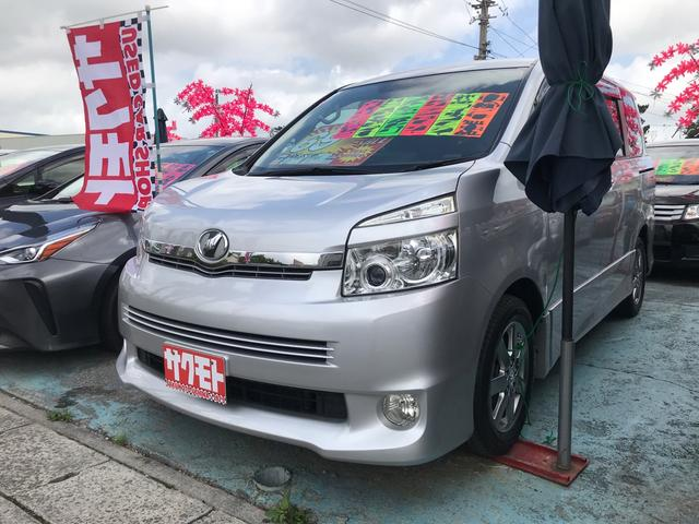 沖縄県の中古車ならヴォクシー ZS 煌II スマートキー プッシュスタート 両側パワースライドドア HDDナビ フルセグTV Bluetooth バックカメラ 新品フリップダウンモニター 3列シート