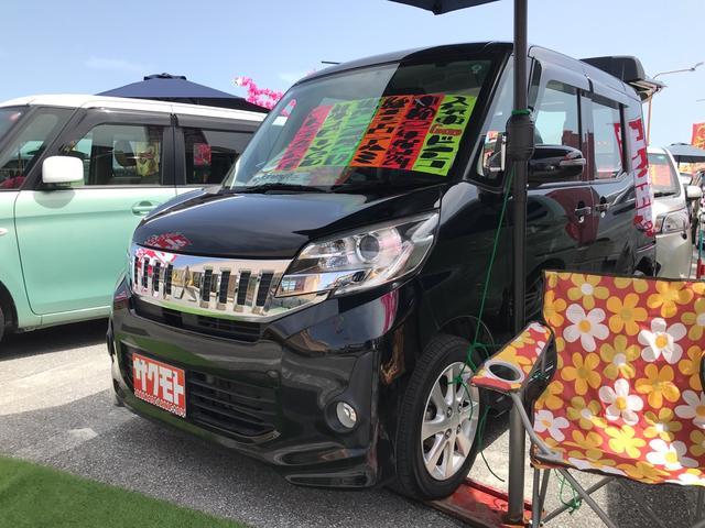 沖縄県沖縄市の中古車ならeKスペースカスタム カスタムG スマートキー プッシュスタート 両側パワースライドドア 社外ナビ TV アイドリングストップ